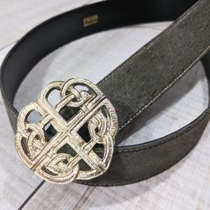 ESCADA Gold Emblem Olive Green Belt
